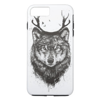 Deer wolf (black and white) iPhone 7 plus case