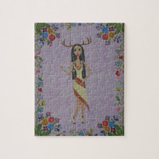 Deer Woman (Fairy Tale Fashion Seems #5) Jigsaw Puzzle