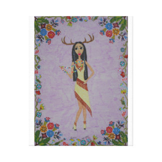 Deer Woman (Fairy Tale Fashion Series #5) Canvas Print