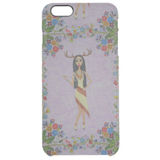 Deer Woman (Fairy Tale Fashion Series #5) Clear iPhone 6 Plus Case