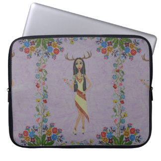 Deer Woman (Fairy Tale Fashion Series #5) Laptop Sleeve