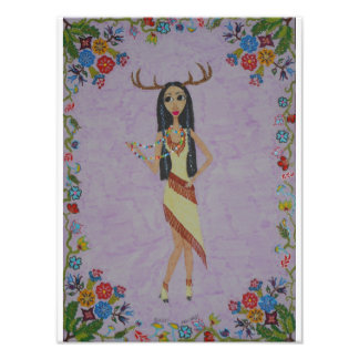 Deer Woman (Fairy Tale Fashion Series #5) Photo Print