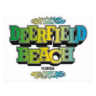 Deerfield Beach 1970's Postcard