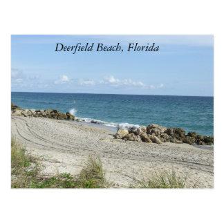 Deerfield Beach, Florida FL Beach Scene Postcard