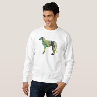 Deerhound art sweatshirt