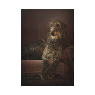 Deerhound one has sofa canvas print