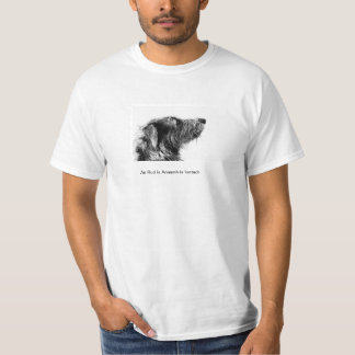Deerhound Profile with Gaelic Text T Shirts