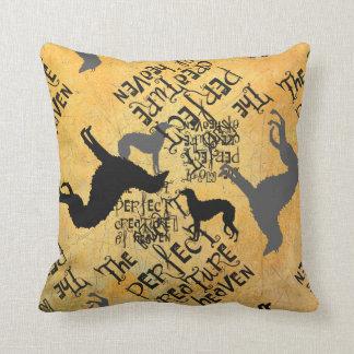 Deerhound Text Cushion