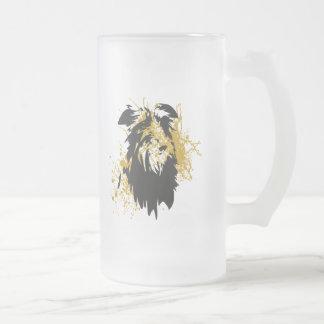 Deerhound urban frosted glass beer mug
