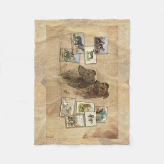 Deerhound vintage fleece blanket