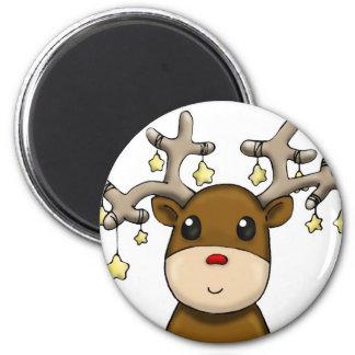 Deers 6 Cm Round Magnet