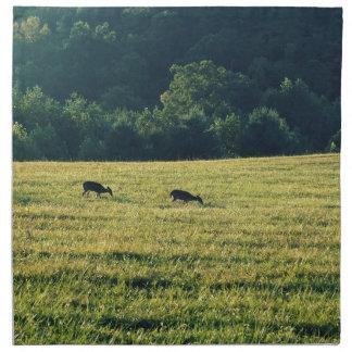 Deers Grazing Napkin