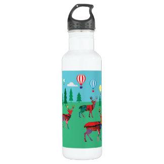 Deers & Hot Air Balloons 710 Ml Water Bottle