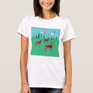 Deers & Hot Air Balloons T-Shirt