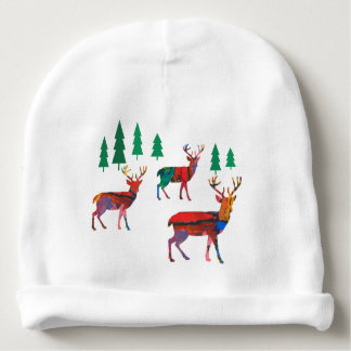 Deers in the Forest Baby Beanie
