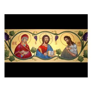 Deesis Prayer Card Postcard