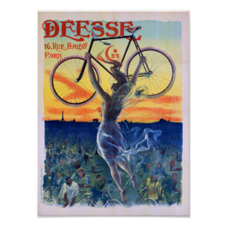 Déesse Cycles 1898 Vintage Advertising Poster