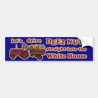 Deez Nuts President 2016 Election Funny Squirrel Bumper Sticker