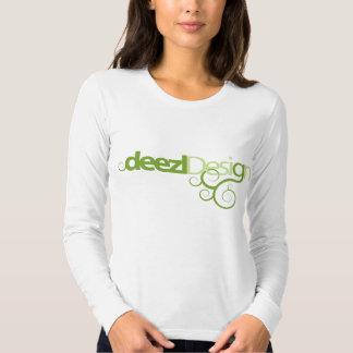 Deezl Design Logo Ladies Long Sleeve Tee