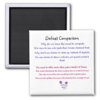 Defeat Comparison Mom poem on magnet