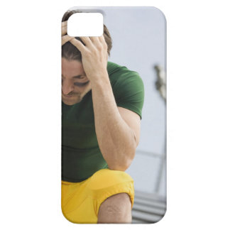 Defeated Football Player with Head in Hands Barely There iPhone 5 Case