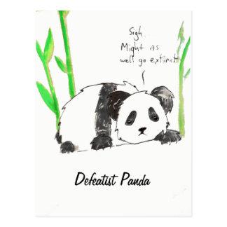 Defeatist Panda Postcard