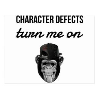 defect monkey postcard
