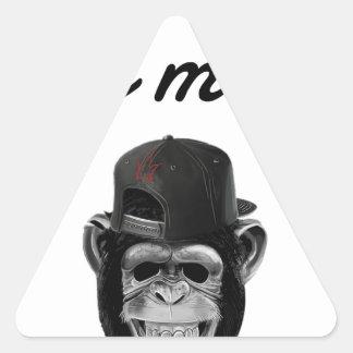 defect monkey triangle sticker