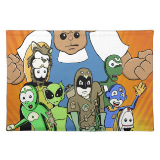 """Defective Comics """"King of the Hill"""" Design Placemat"""