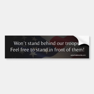 Defend America - Support Troops Bumper Sticker