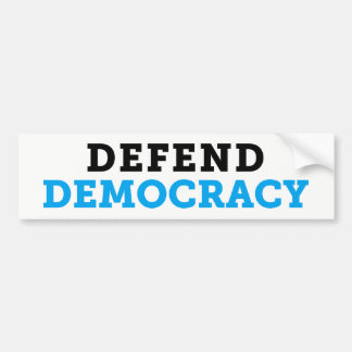Defend Democracy Light Bumper Sticker