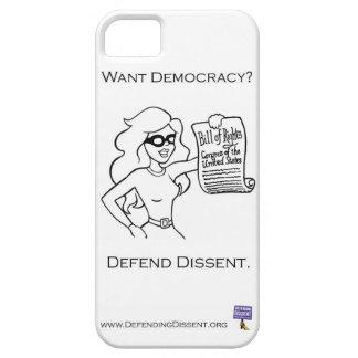 Defend Dissent I Phone case
