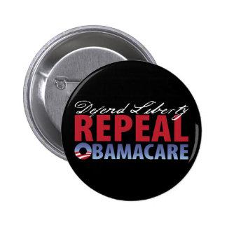 Defend Liberty Repeal Health Care Pinback Button