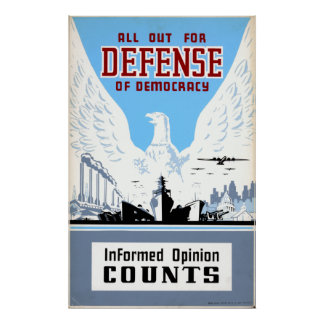 Defend Our Democracy Posters