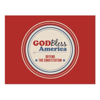 Defend The Constitution Postcard