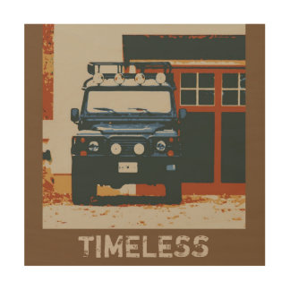 DEFENDER 90 - TIMELESS WOOD WALL DECOR
