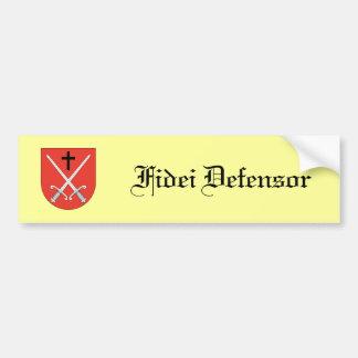 Defender of the faith bumper sticker