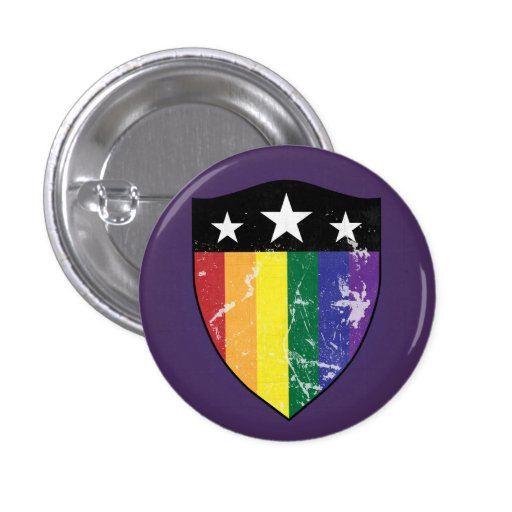 Defender Shield 01 (LGBTQIA) Buttons