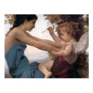Defending a Heart Against Eros Bougereau Postcards