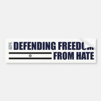 Defending Freedom From Hate Sticker Bumper Sticker