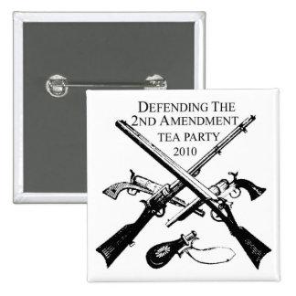 DEFENDING THE 2ND AMENDMENT 15 CM SQUARE BADGE