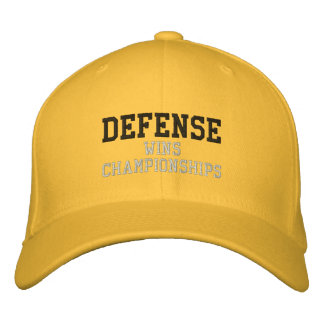 DEFENSE wins championships Embroidered Hat