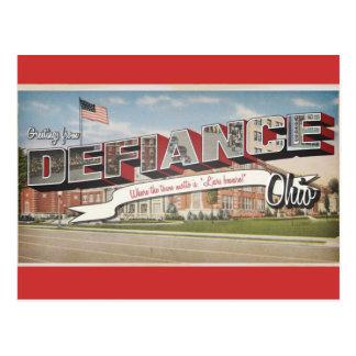 Defiance Ohio Postcard