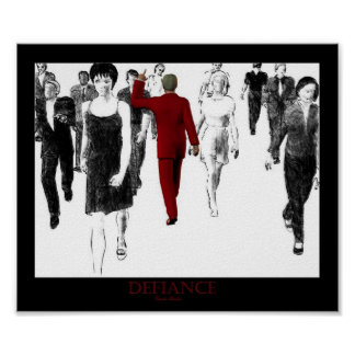 Defiance Red Poster