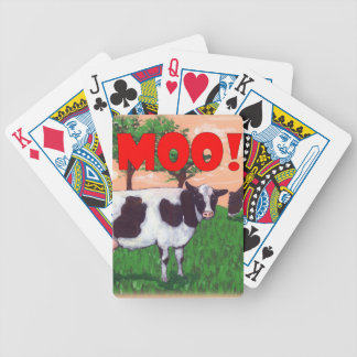 Defiant Cow Bicycle Playing Cards
