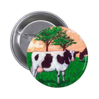Defiant Dairy Cow 6 Cm Round Badge