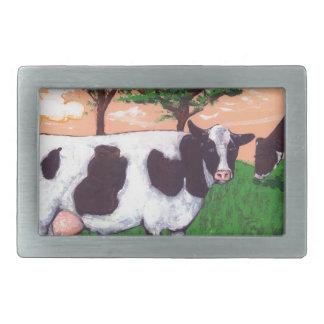 Defiant Purple Cow Rectangular Belt Buckle