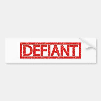 Defiant Stamp Bumper Sticker