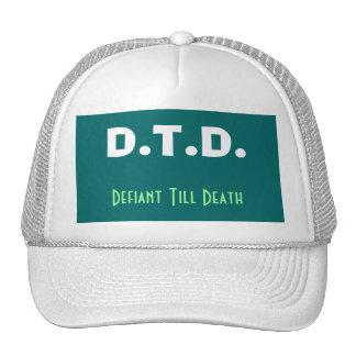 Defiant Till Death Cap Hats