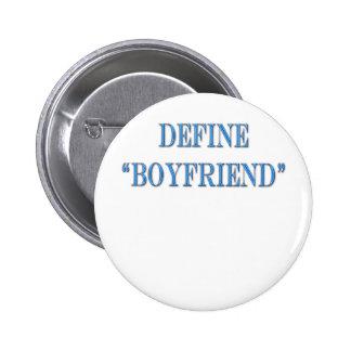 Define Boyfriend Blue Text 6 Cm Round Badge